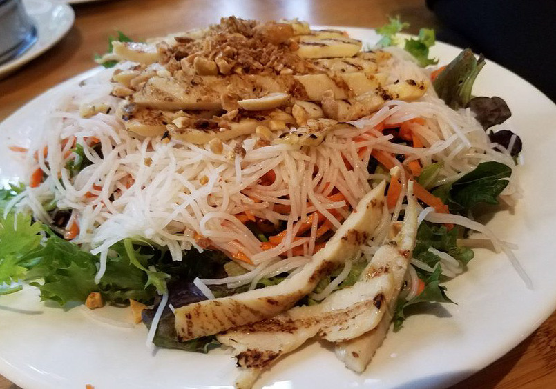Grilled Vietnamese Lemongrass Noodle Salad