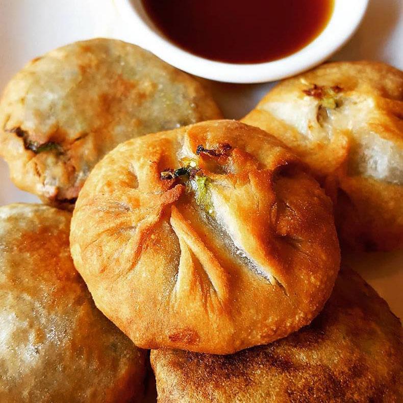 Edamame and Mushroom Dumplings